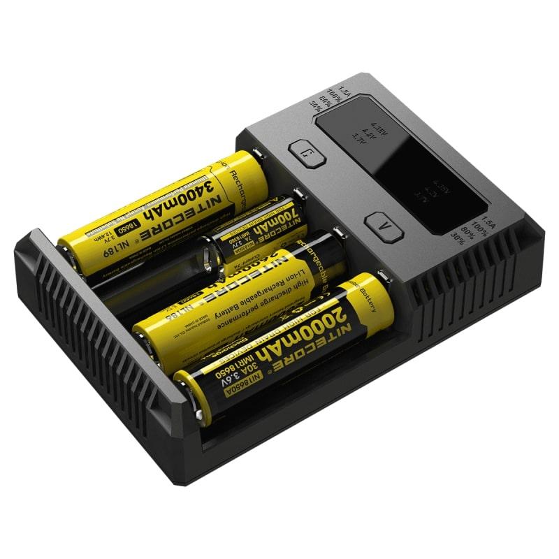 Зарядное устройство для аккумуляторов NITECORE New I4 18650, 75584435 nitecore mh10 1000 lumens cree xm l2 u2 led flashlight throw 232 meters waterproof light flashlight by 18650 battery