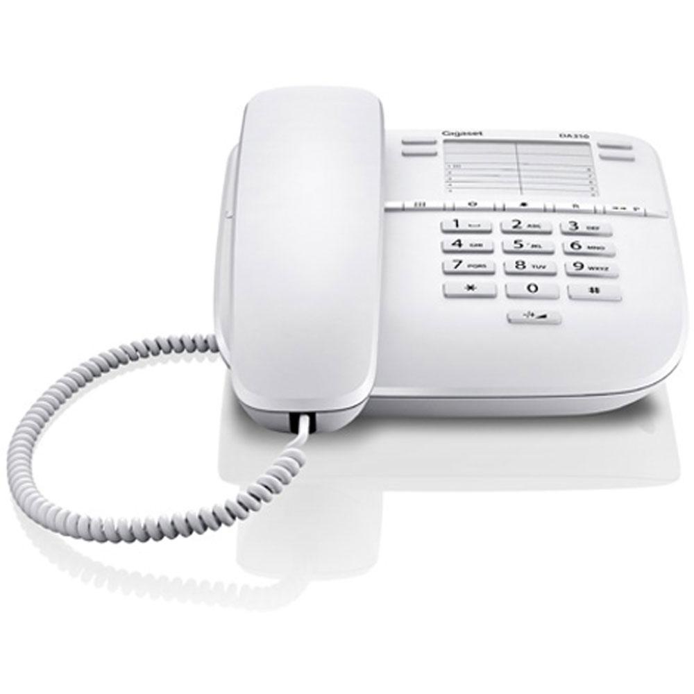 Телефон Gigaset Gigaset DA 310 RUS White, S30054-S6528-S302, белый телефон проводной gigaset da 410 im white