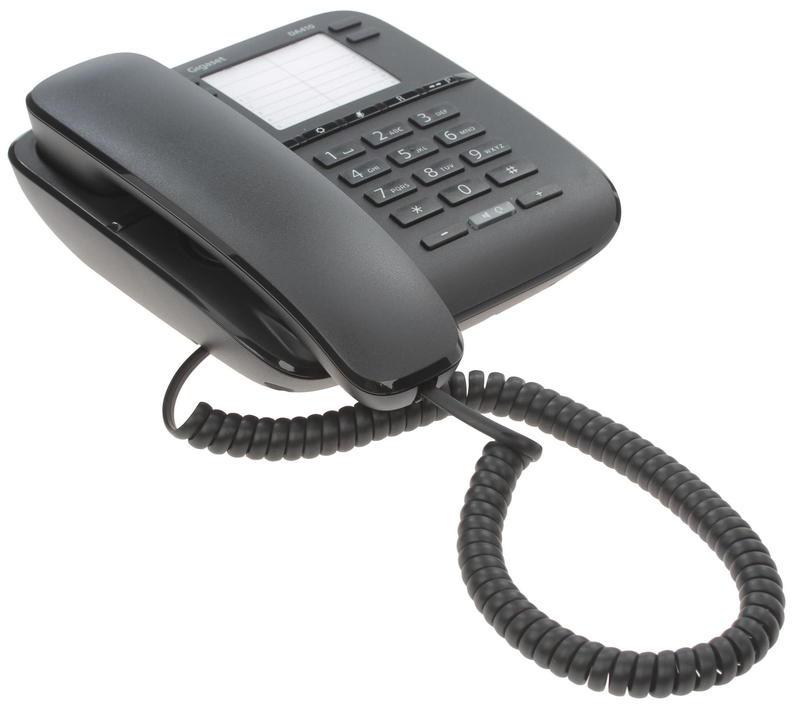 Телефон Gigaset DA 410 RUS Black, S30054-S6529-S301, черный