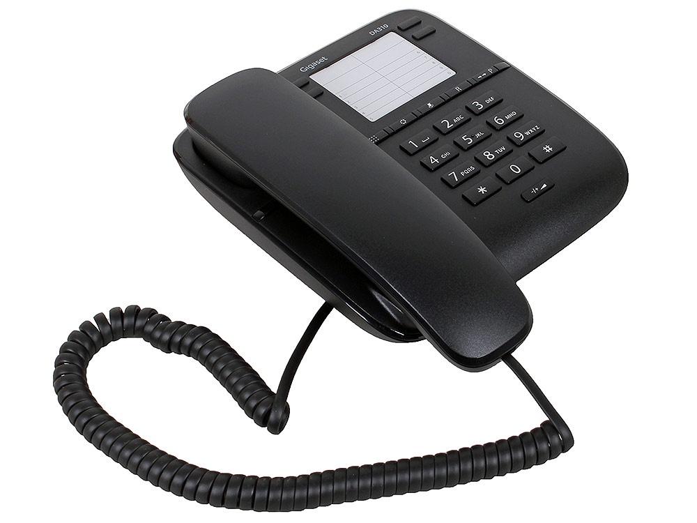 Телефон Gigaset DA 310 RUS Black, S30054-S6528-S301, черный