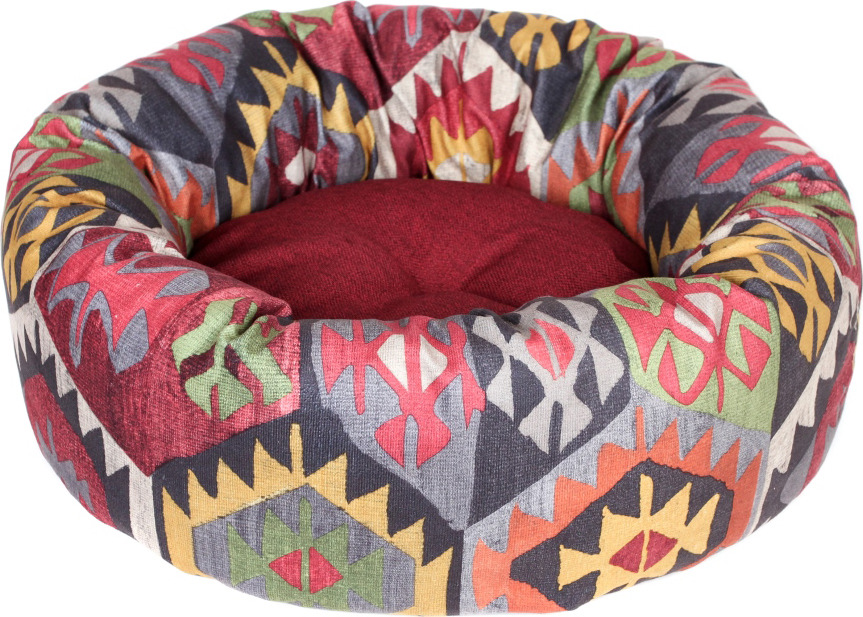 Лежак для животных Pride Мехико, 10011611, бордовый, 53 х 53 х 20 см лежак для животных pride мехико 10011621 желтый 53 х 53 х 20 см