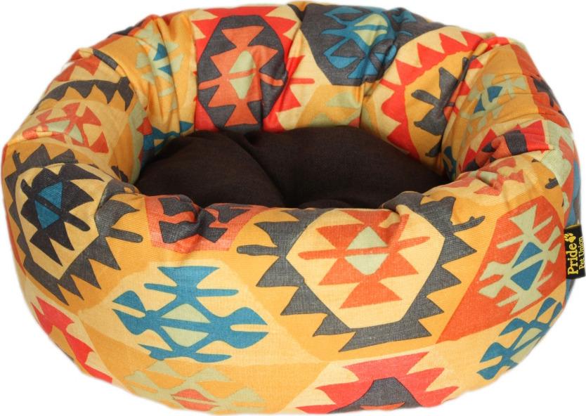 Лежак для животных Pride Мехико, 10011621, желтый, 53 х 53 х 20 см лежак для животных pride мехико 10011621 желтый 53 х 53 х 20 см