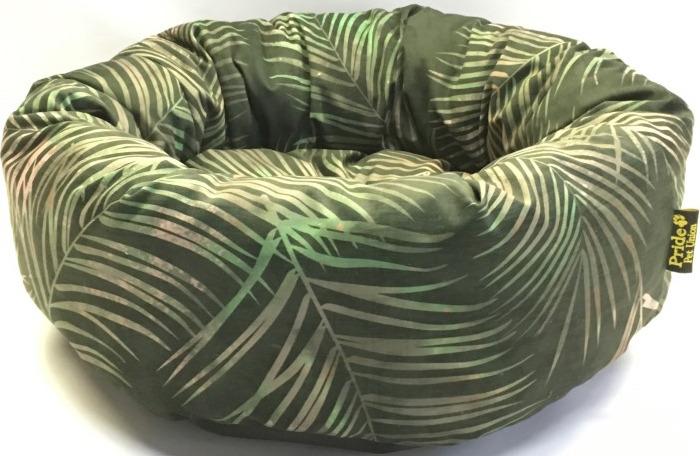 """Лежак для животных Pride """"Джангл"""", 10011732, темно-зеленый, 53 х 53 х 20 см"""