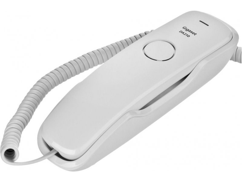 Телефон Gigaset DA 210 RUS White, S30054-S6527-S302, белый