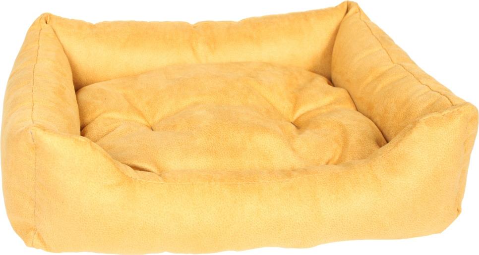 """Лежак для животных Pride """"Ранчо"""", 10012622, горчичный, 70 х 60 х 23 см"""