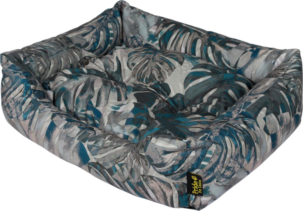 Лежак для животных Pride Тропикана, 10012751, темно-зеленый, 60 х 50 х 18 см