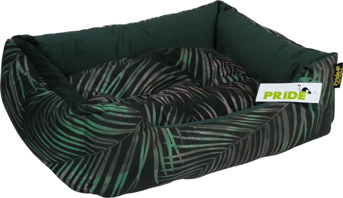 """Лежак для животных Pride """"Джангл"""", 10012762, темно-зеленый, 70 х 60 х 23 см"""