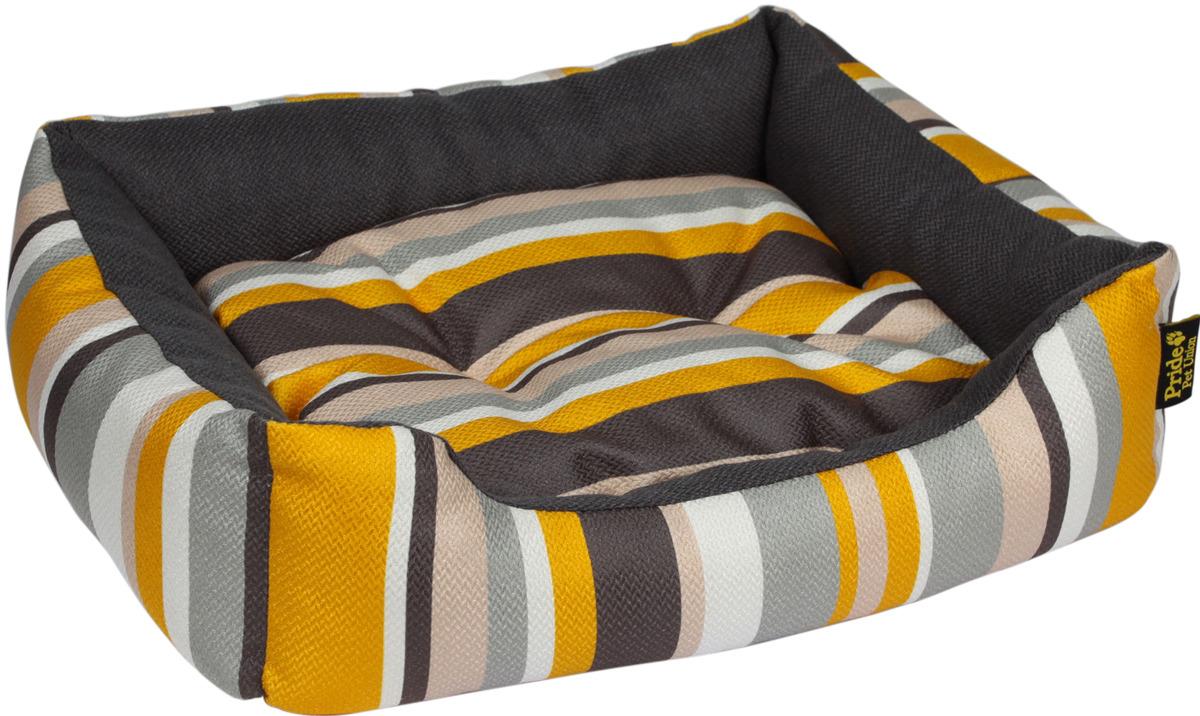 Лежак для животных Pride Мадагаскар, 10012781, желтый, 60 х 50 х 18 см