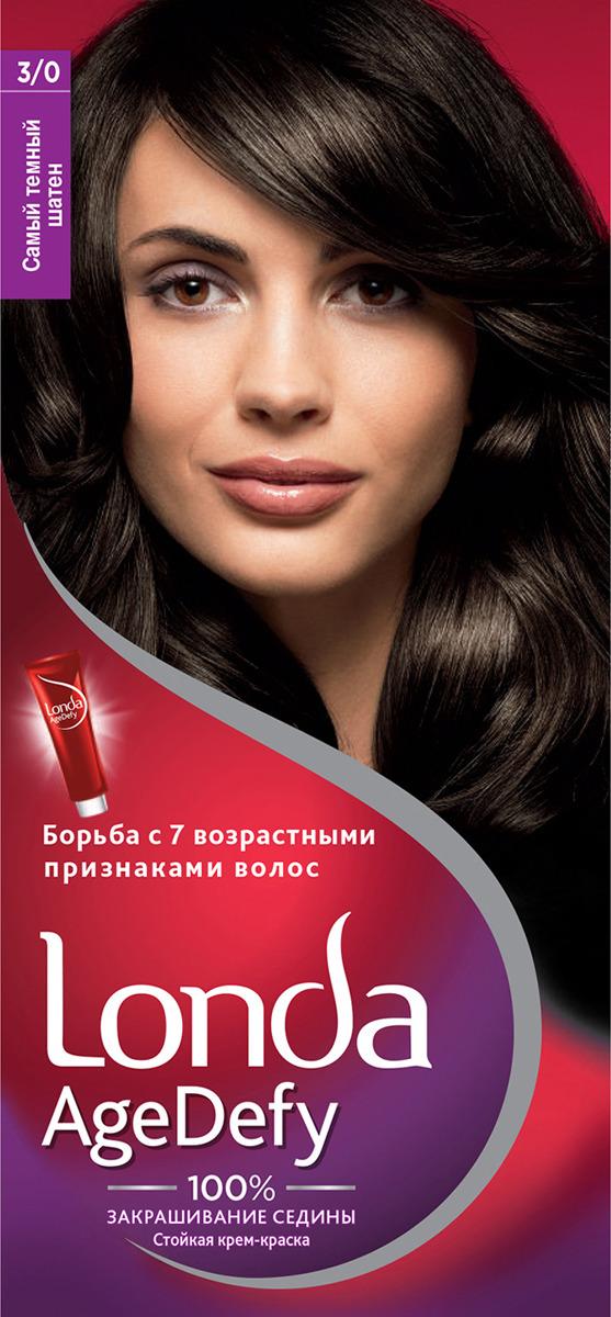 Крем-краска для волос Londa Age Defy стойкая, 3/0 самый темный шатен стойкая крем краска для волос fitocolor
