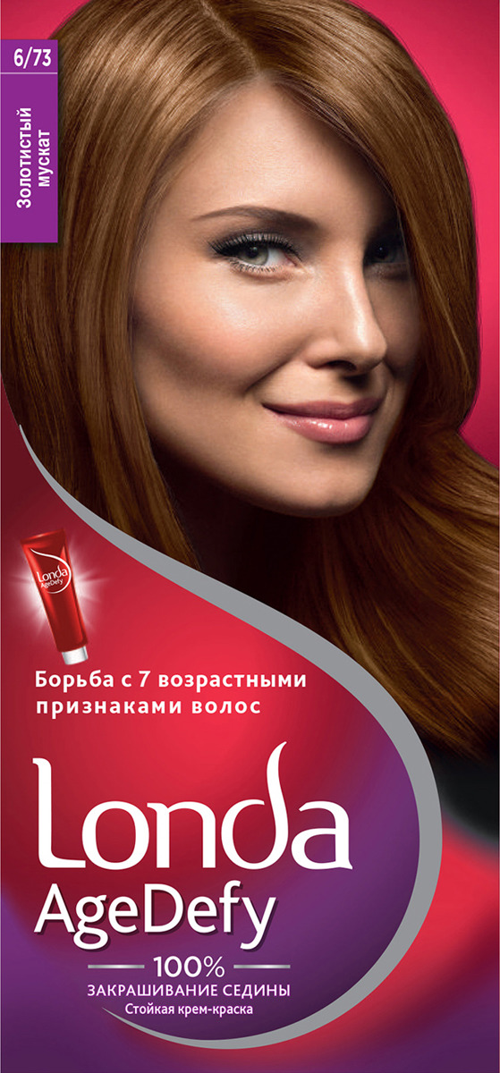Крем-краска для волос Londa Age Defy стойкая, 6/73 золотистый мускат цена 2017