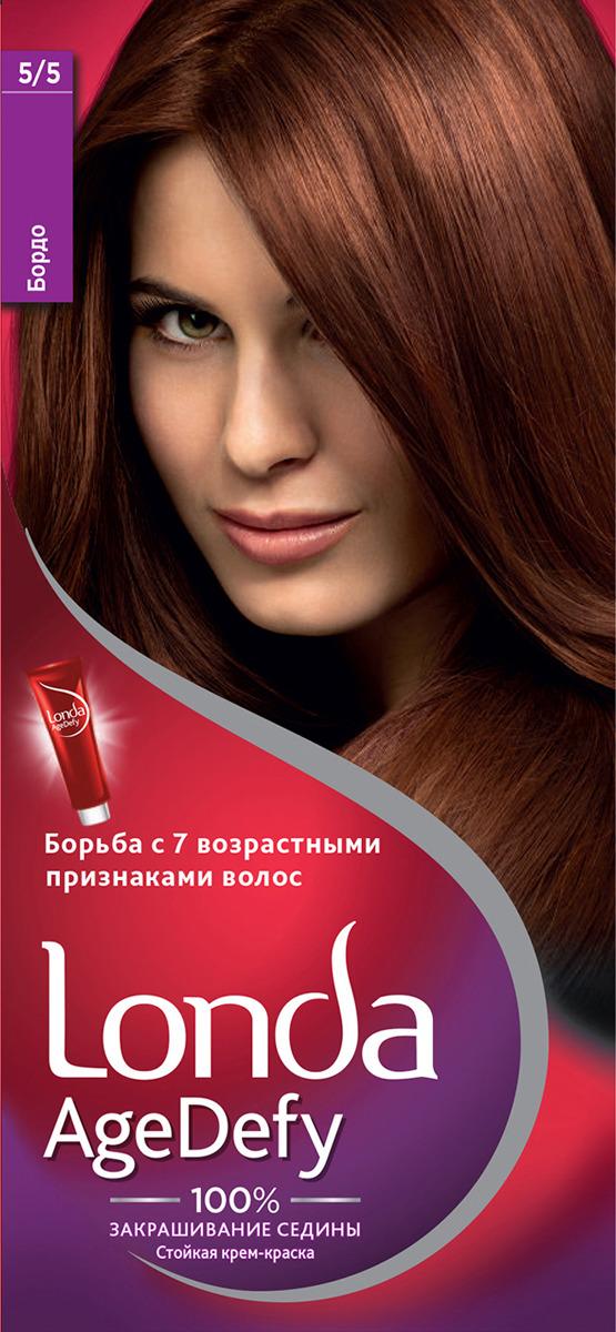 Крем-краска для волос Londa Age Defy стойкая, 5/5 бордо долгит крем 5