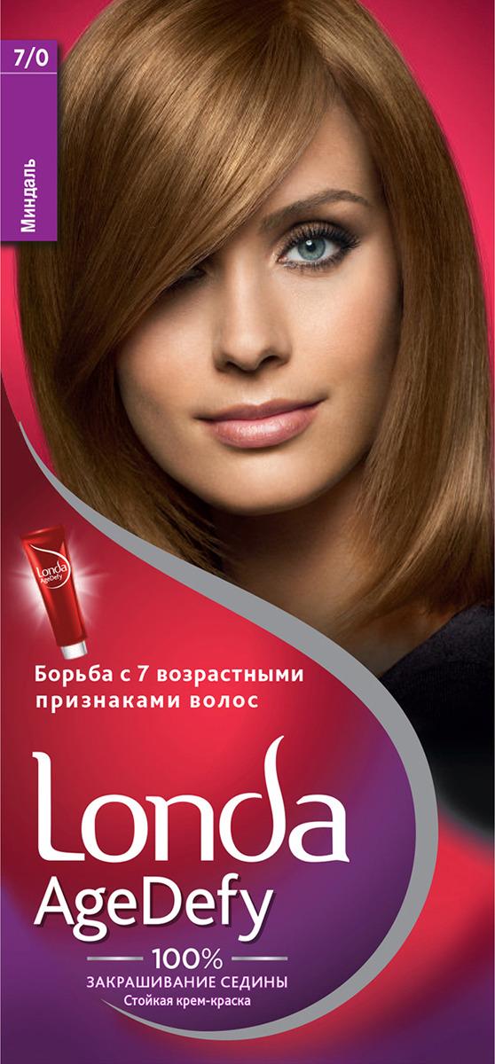 Крем-краска для волос Londa Age Defy стойкая, 7/0 миндаль крем краска для волос londa age defy стойкая 4 0 темный шатен