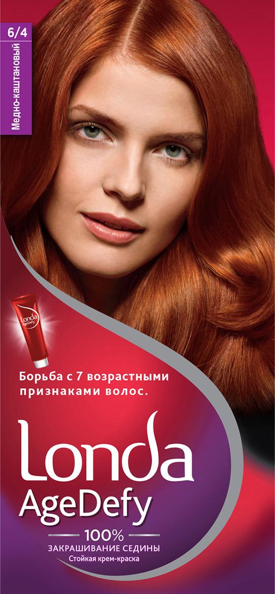 Крем-краска для волос Londa Age Defy стойкая, 6/4 медно-каштановый
