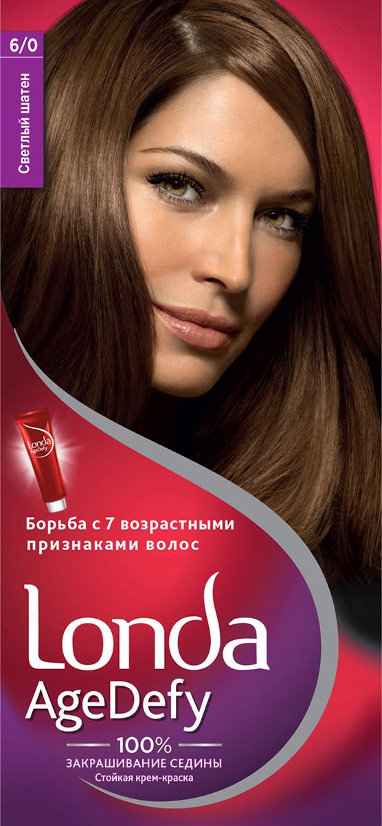 Стойкая крем-краска для волос Londa Age Defy, 6/0