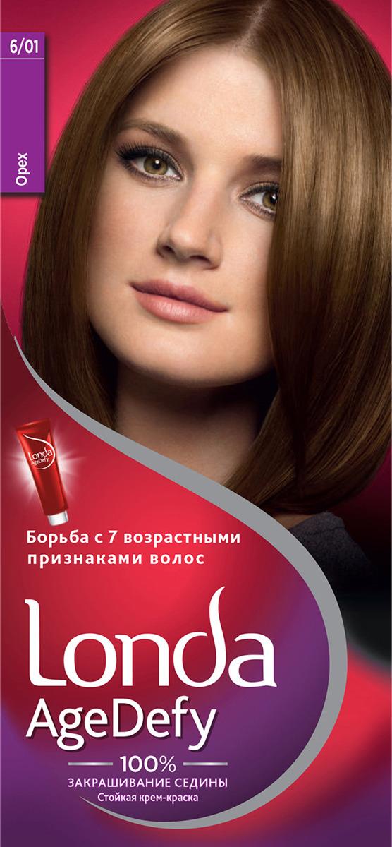 Крем-краска для волос Londa Age Defy стойкая, 6/01 орех крем краска для волос londa age defy стойкая 4 0 темный шатен