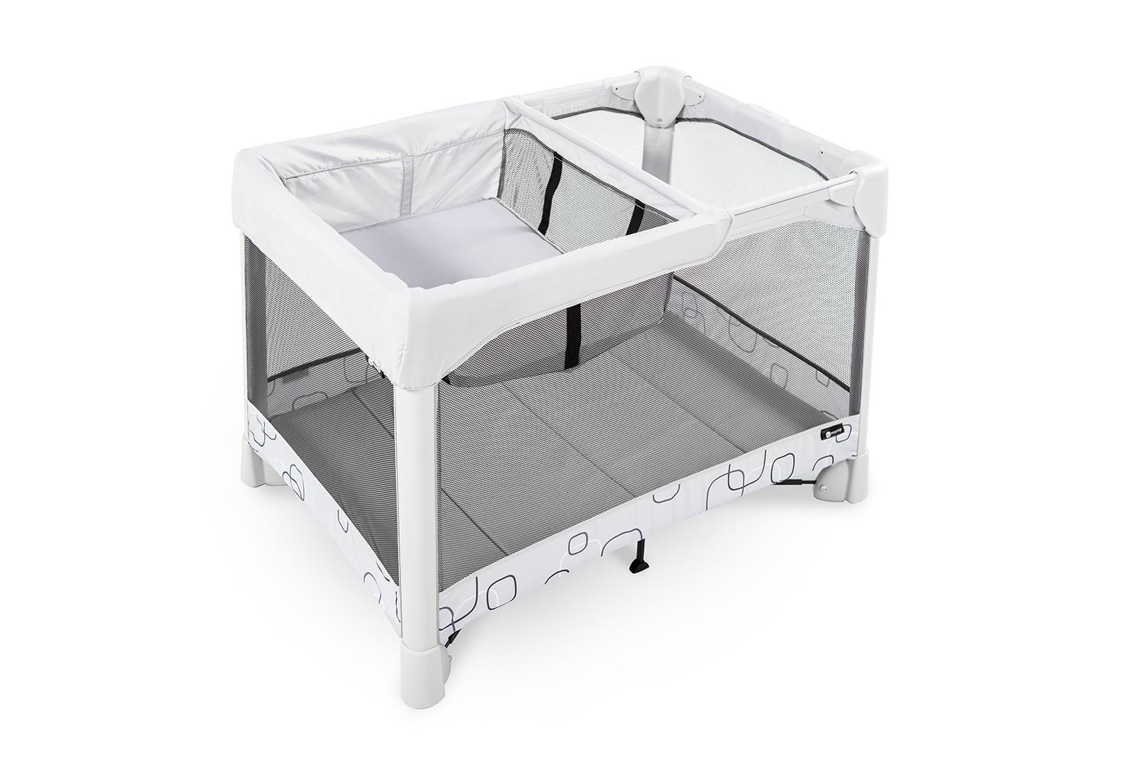 Манеж-кроватка 4moms Манеж-кровать Breeze Classic серый