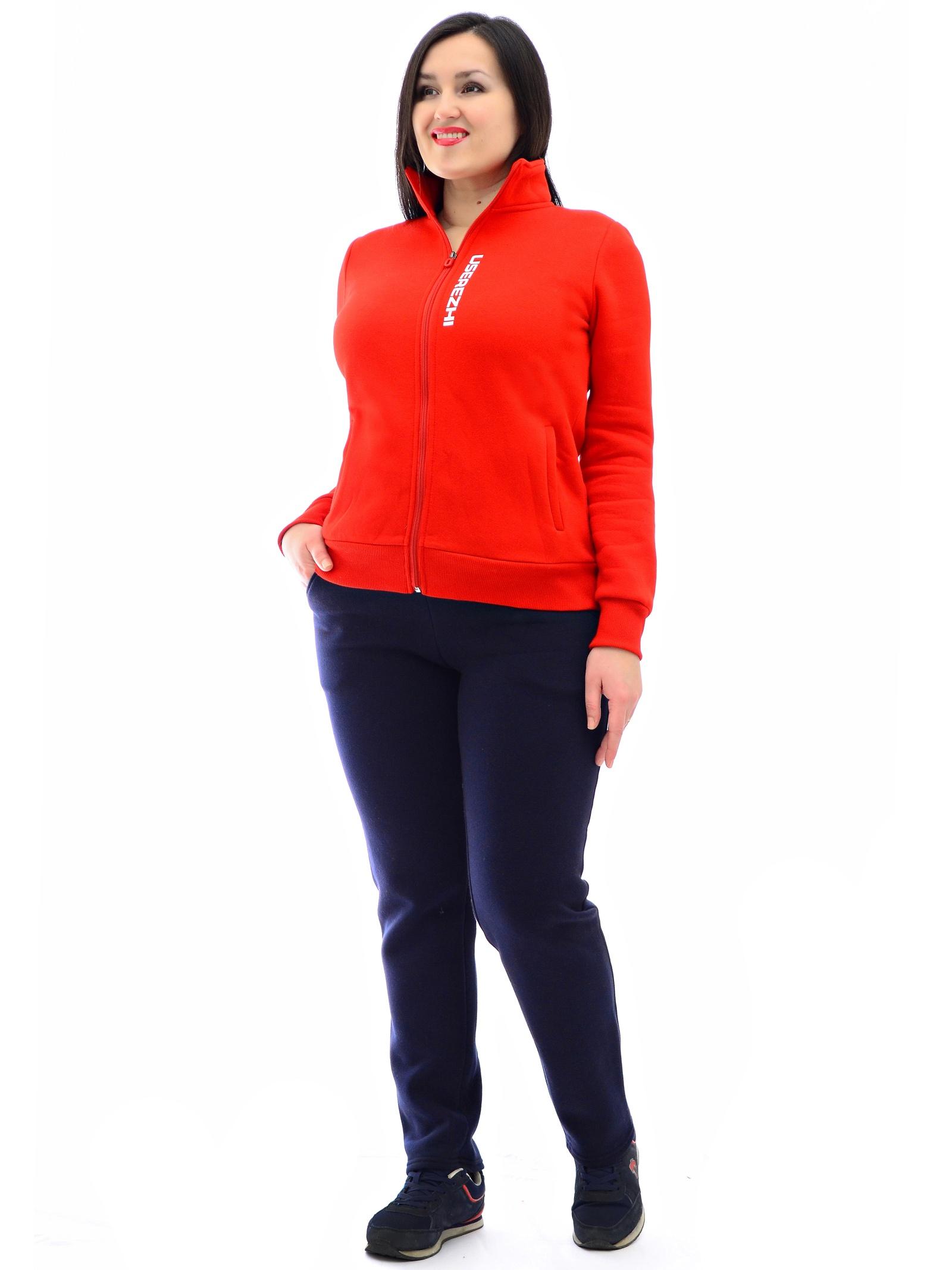 Спортивный костюм USEREZHI W580307-56, красный, темно-синий 56 размерW580307-54Удобный и практичный костюм от бренда USEREZHI создан из мягкого, качественного трикотажа с начесом. Костюм подходит под любой тип фигуры благодаря строгому крою и слегка зауженным штанинам без манжет. В нашей одежде вы себя будете чувствовать комфортно и данный костюм станет одной из любимых вещей в вашем гардеробе. Рост модели на фото - 172 см., размер на модели 52.· Материалы: Ткань: Хлопок не менее 80%. Ткань трикотаж с начесом, приятный телу и при этом в меру эластичный. Изображение - логотип шелкография.· Особенности верха: цвет красный, эластичный манжет рукава, кофта с воротником, застегивается на замок. Изображение - шелкография логотип.· Особенности брюк: цвет синий, эластичная резинка по талии брюк и шнурок, изображение: шелкография логотип.
