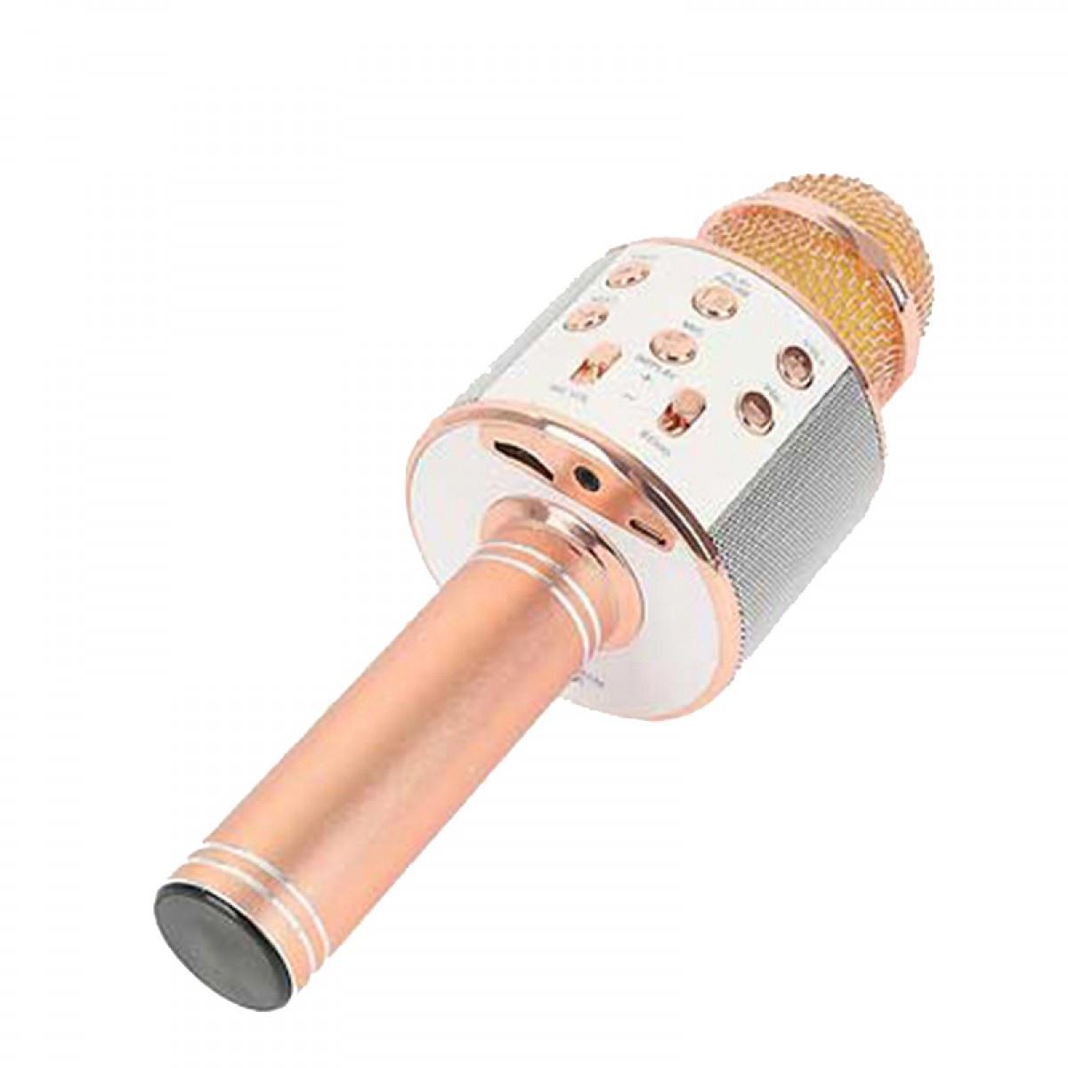 Микрофон WSTER для Караоке беспроводной, светло-розовый караоке handheld ktv ws 1816r red