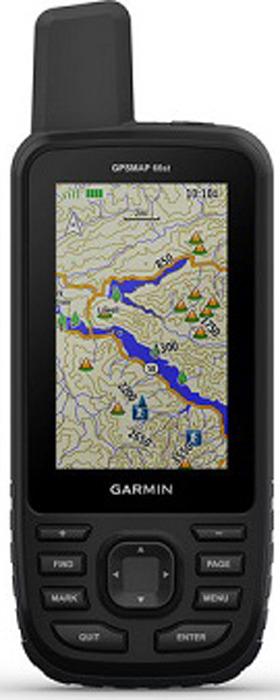 Навигатор Garmin Gpsmap 66st, 10-01918-14, черный навигатор garmin gpsmap 64st russia 010 01199 23