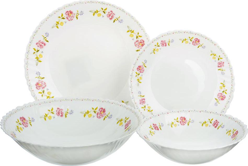 """Набор столовой посуды Millimi """"Диана"""", 818095, белый, 19 предметов"""