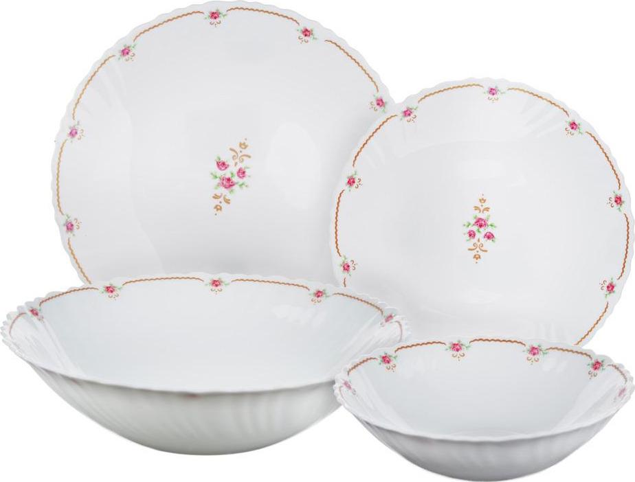 """Набор столовой посуды Millimi """"Наяда"""", 818101, белый, 19 предметов"""