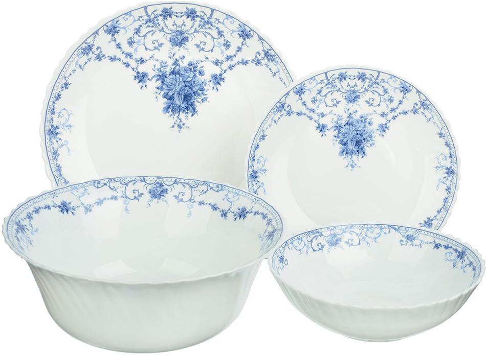 """Набор столовой посуды Millimi """"Ариадна"""", 818545, белый, 19 предметов"""
