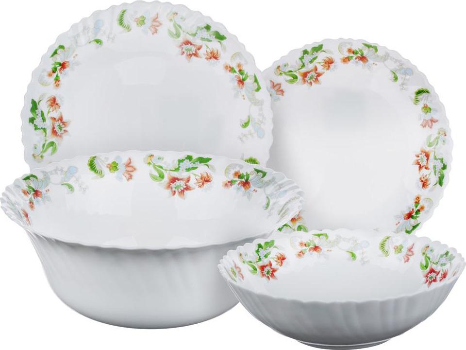 """Набор столовой посуды Millimi """"Серсея"""", 818611, белый, 19 предметов"""