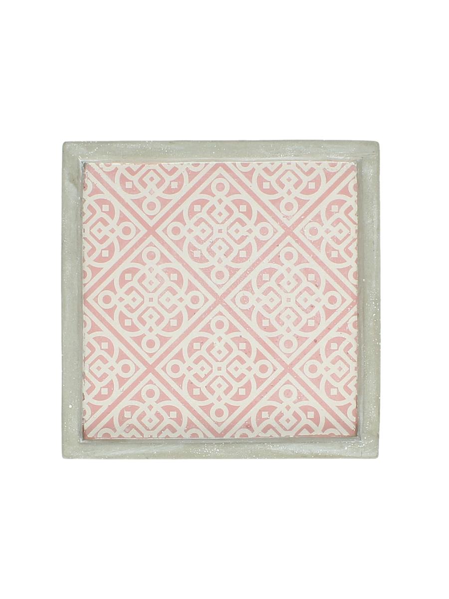 Декоративная тарелка RICH LINE Home Decor Изысканные узоры, WER-4653, розовый цена 2017