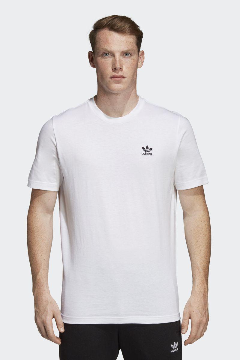 Футболка мужская Adidas Essential T, цвет: белый. DV1576. Размер XL (56/58)DV1576