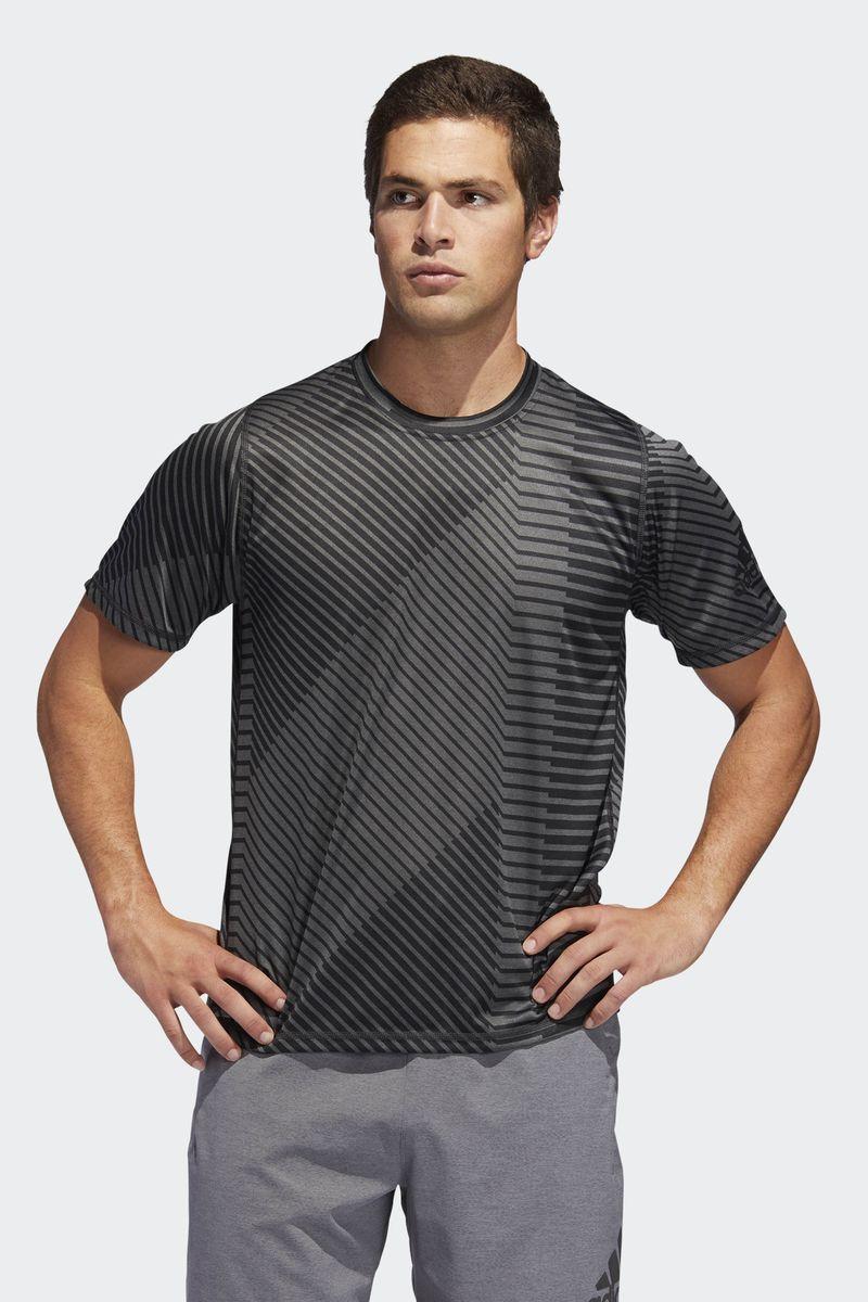 Футболка мужская Adidas Fl G Htr Ss Aop, цвет: темно-серый. DQ2839. Размер XL (56/58)DQ2839