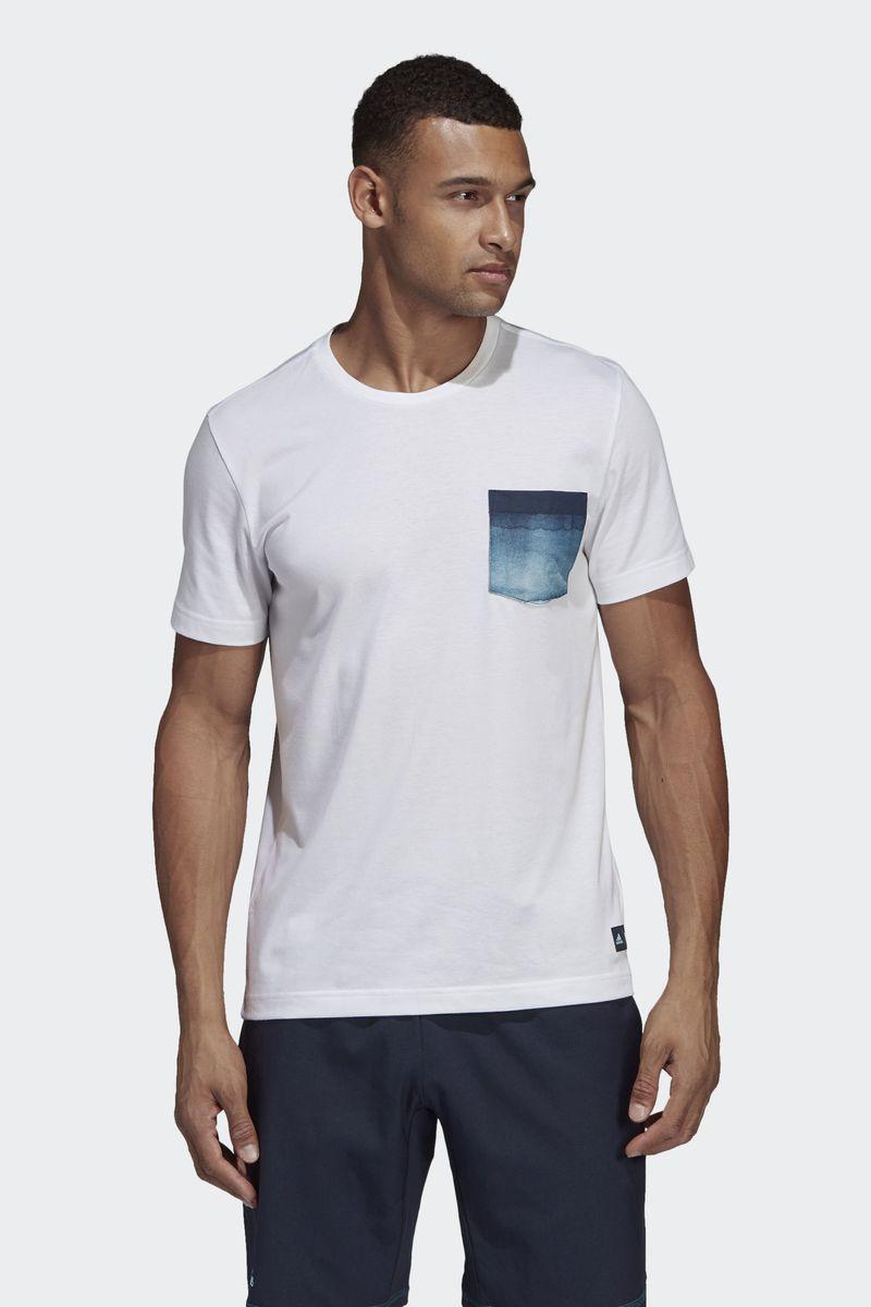 Футболка мужская Adidas Parley Pocket T, цвет: белый. DV2965. Размер XL (56/58)DV2965