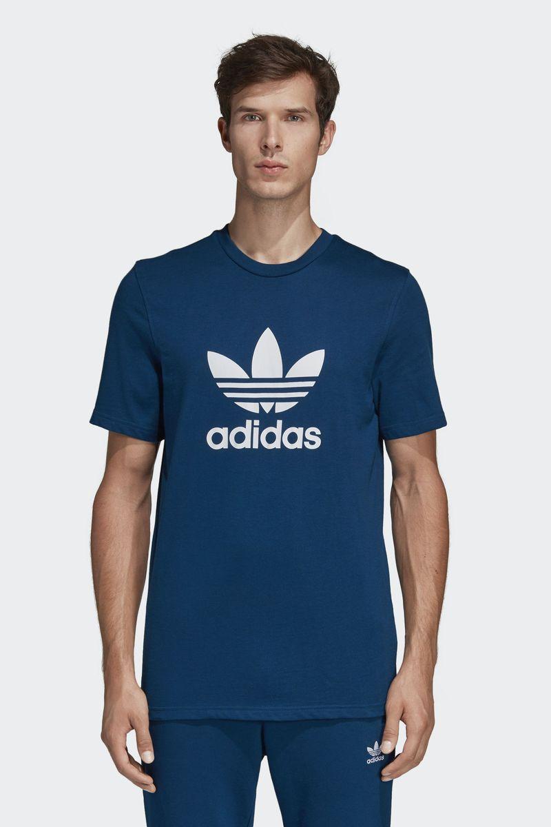 Футболка мужская Adidas Trefoil T-Shirt, цвет: голубой. DV1603. Размер L (52/54)DV1603