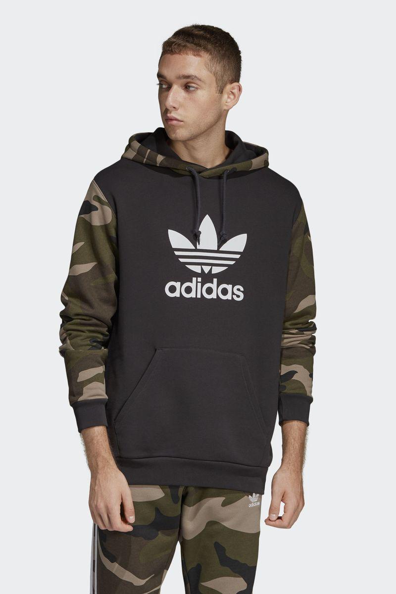 Худи мужское Adidas Camo Oth Hoody, цвет: черный. DV2023. Размер M (48/50)DV2023