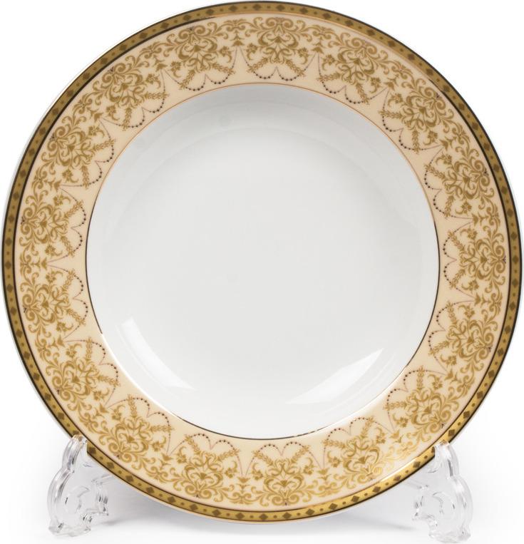 Тарелка La Rose des Sables Tiffany Or, 5300222 1785, золотой, персиковый, глубокая салатник круглый 13 см la rose des sables mimosa didon or 533913 1645