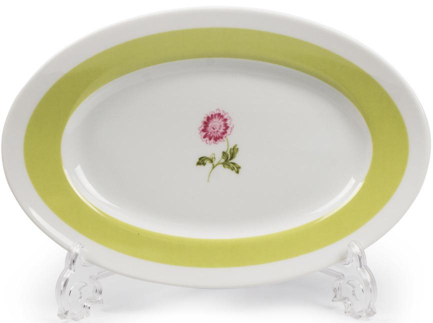 Блюдо La Rose des Sables Cocooning, 5301824 2375, белый, серый, салатовый, диаметр 24 см салатник круглый 13 см la rose des sables mimosa didon or 533913 1645