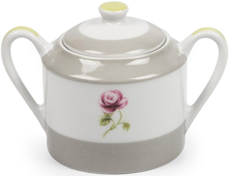 Сахарница La Rose des Sables Cocooning, 5303225 2375, белый, серый, салатовый, 250 мл сахарница lsa dine со сливочником цвет белый 250 мл
