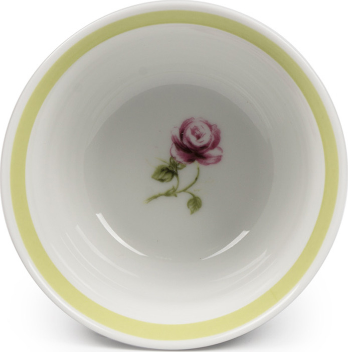 Тарелка La Rose des Sables Cocooning, 5500221 2375, белый, серый, салатовый, диаметр 21 см салатник круглый 13 см la rose des sables mimosa didon or 533913 1645