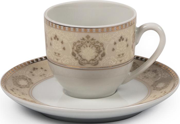 Кофейная пара La Rose des Sables Riad Or, 6103510 1853, кремовый, золотой, 110 мл кофейная пара rosenberg 90 мл голубой