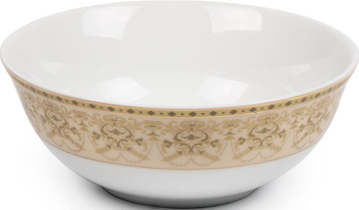 Салатник La Rose des Sables Tiffany Or, 6403914 1785, золотой, персиковый, диаметр 14 см салатник круглый 13 см la rose des sables mimosa didon or 533913 1645