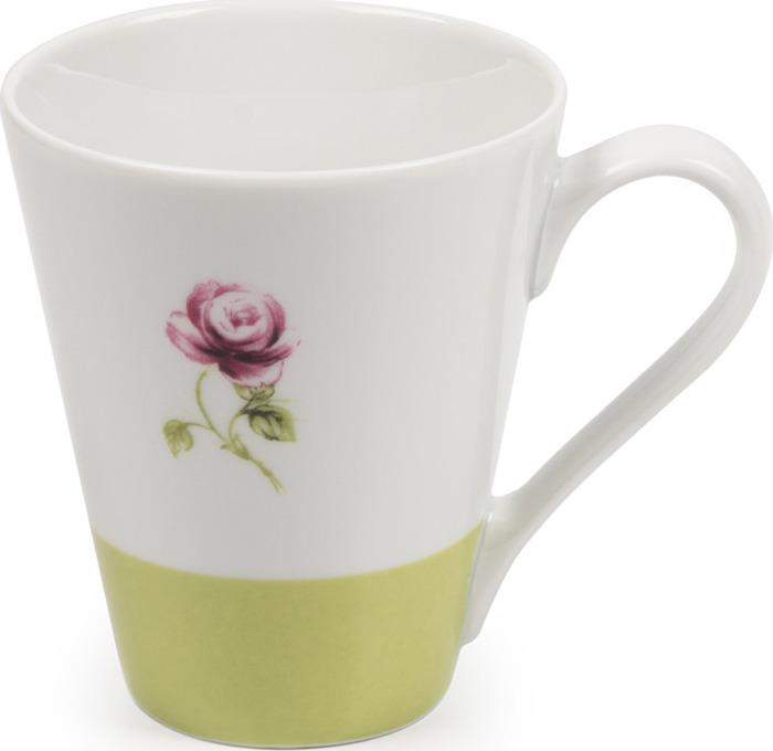 Кружка La Rose des Sables Cocooning, 7307830 2375, белый, серый, салатовый, 300 мл кружка лабиринт 300 мл la rose des sables кружка лабиринт 300 мл