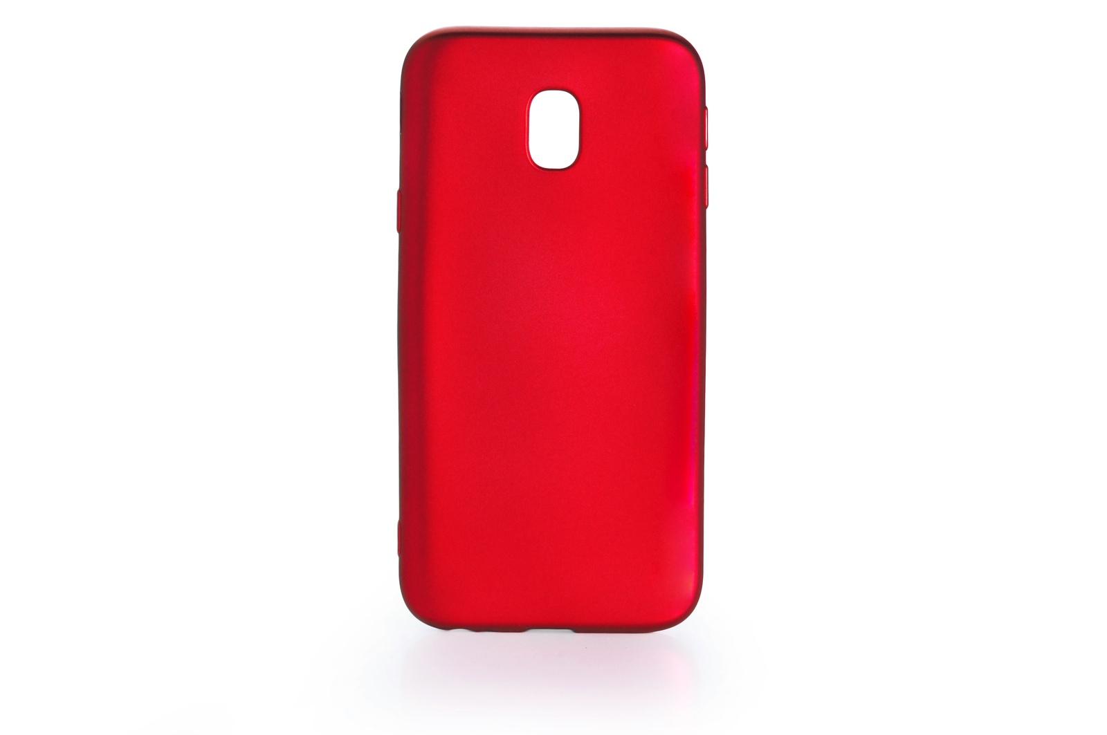 Чехол для сотового телефона Gurdini Чехол накладка силикон Soft Touch для Samsung Galaxy J3 2017 (J 330) , 905000, красный