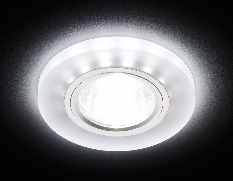 Потолочный светильник Ambrella S214 WH/CH/WH матовый/хром/MR16+3W(LED WHITE), S214 WH/CH/WH merdia 1156 3w 150lm 22 x smd 1206 led white light car tail light brake lamp 2 pcs 12v