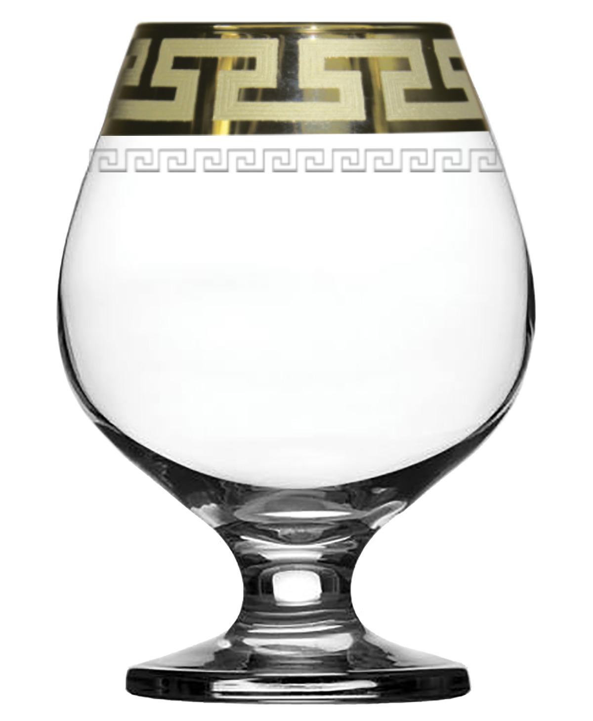 Набор бокалов для бренди Гусь-Хрустальный Греческий узор, GE03-188, 400 мл, 6 шт набор бокалов гусь хрустальный золотой карат