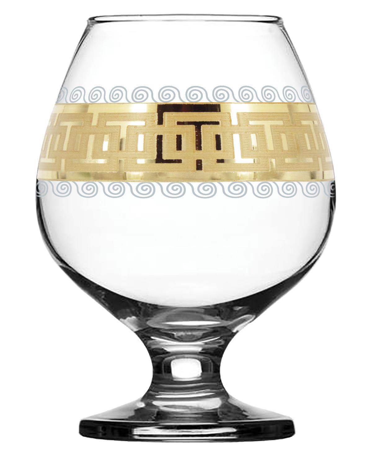 Набор бокалов для бренди Гусь-Хрустальный Меандр, EAV26-188, 400 мл, 6 шт набор бокалов гусь хрустальный золотой карат
