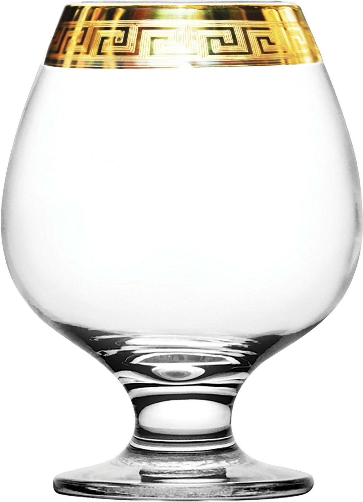 Набор бокалов для бренди Гусь-Хрустальный Версаче голд, TAV91-188, 400 мл, 6 шт набор бокалов гусь хрустальный версаче голд tav91 160 200 мл 6 шт