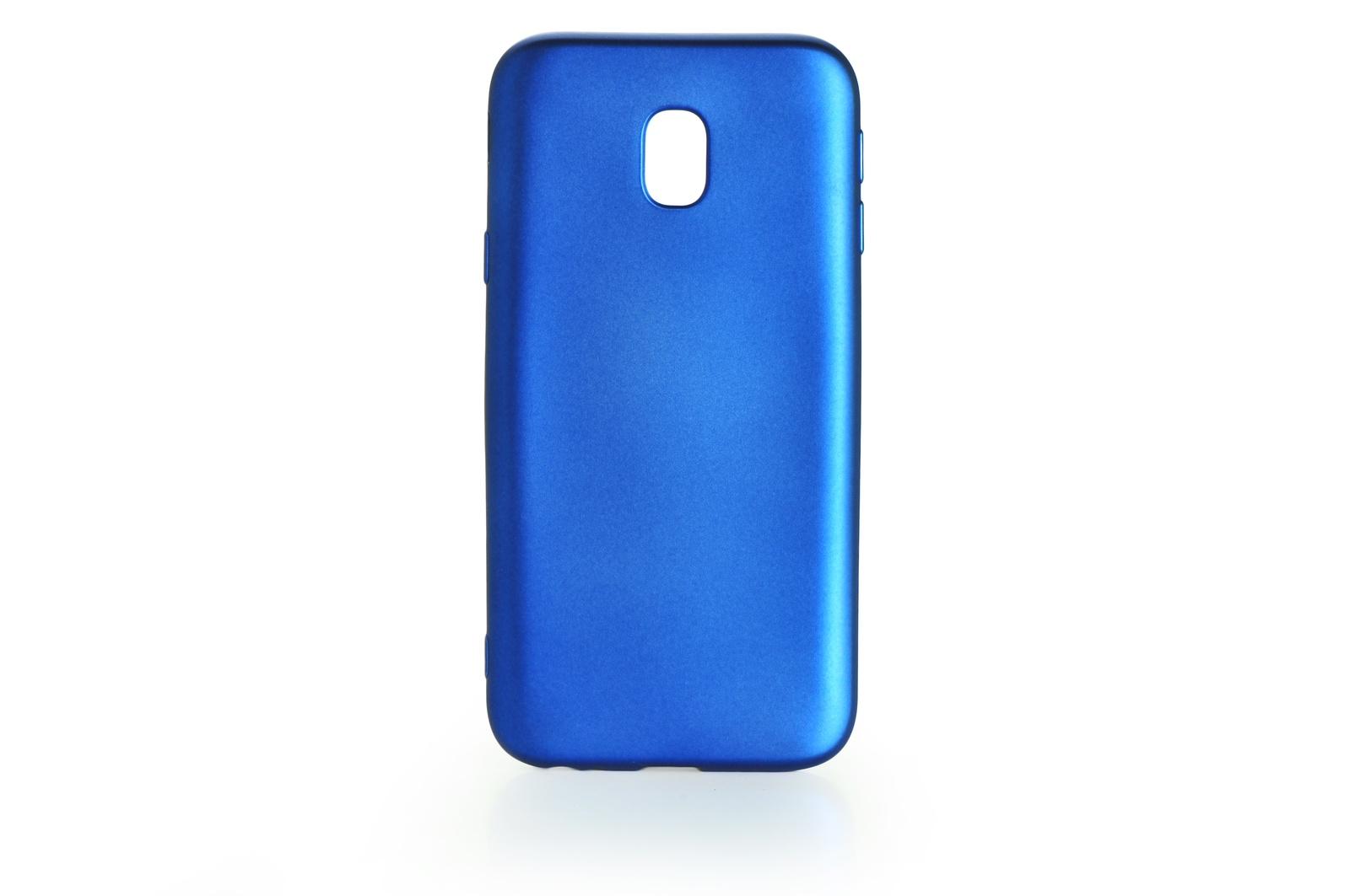Чехол для сотового телефона Gurdini Чехол накладка силикон Soft Touch для Samsung Galaxy J3 2017 (J 330) , 904996, синий
