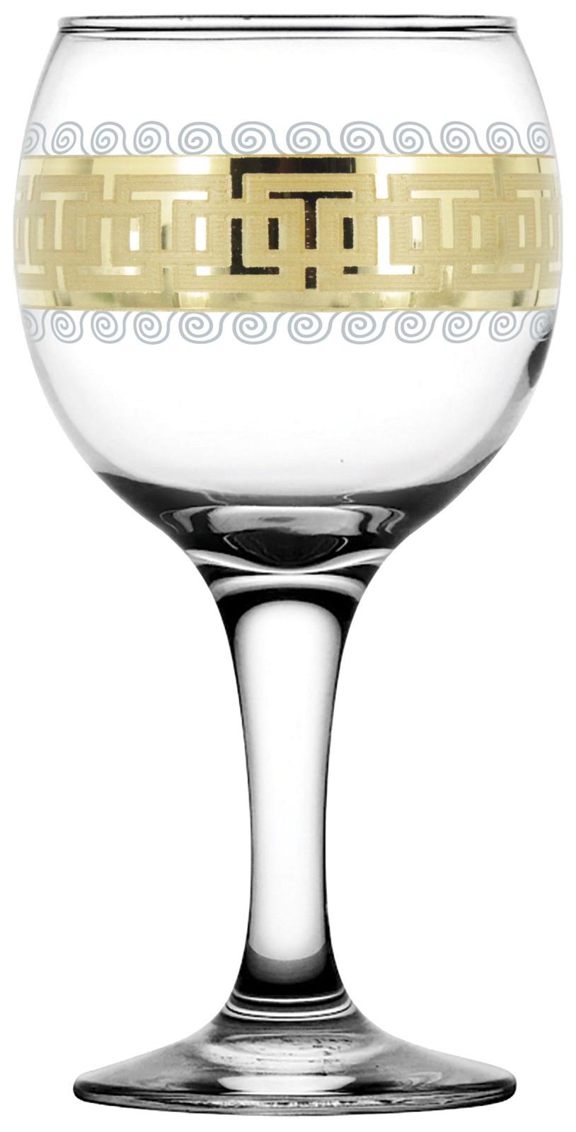 Набор фужеров Гусь-Хрустальный Меандр, EAV26-411, 260 мл, 6 шт набор рюмок гусь хрустальный меандр eav26 134 60 мл 6 шт