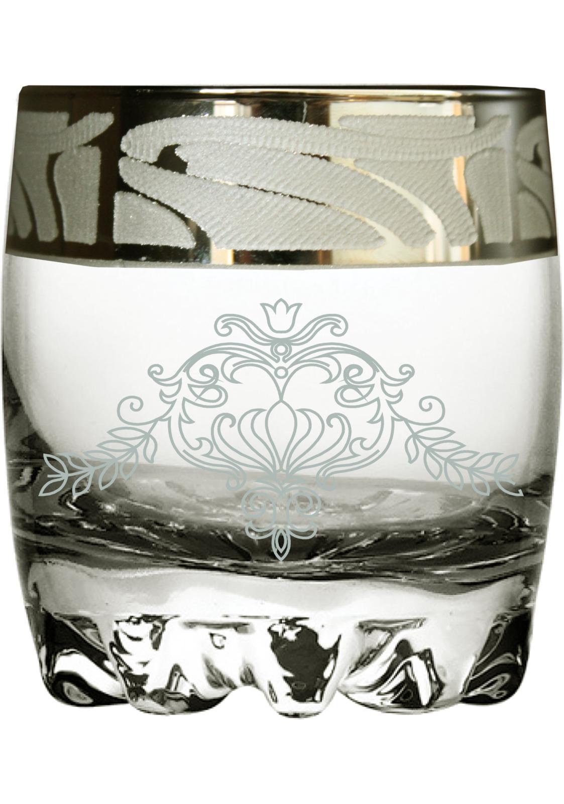 Набор стаканов для виски Гусь-Хрустальный Мускат, GE05-415, 305 мл, 6 штGE05-415Набор Гусь-Хрустальный Мускат состоит из 6 стаканов для виски, изготовленных из высококачественного натрий-кальций-силикатного стекла. Изделия оформлены красивым зеркальным покрытием и белым матовым орнаментом. Такой набор прекрасно дополнит праздничный стол и станет желанным подарком в любом доме. Разрешается мыть в посудомоечной машине.