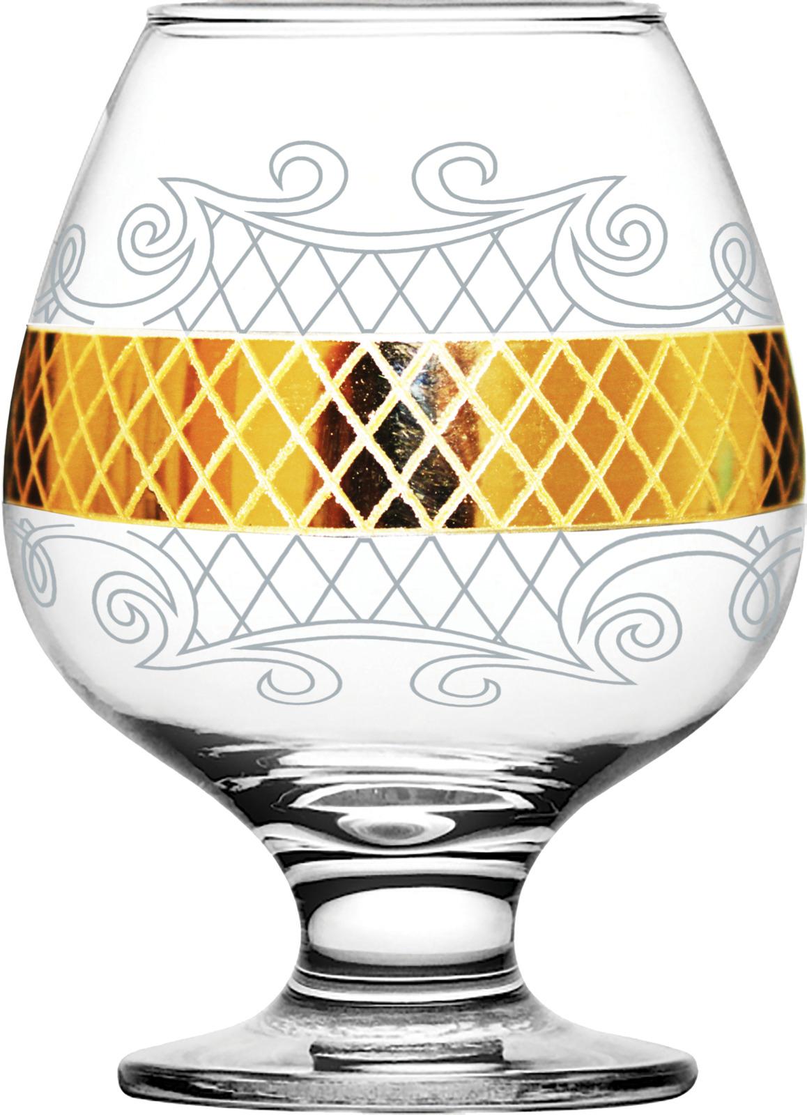 Набор бокалов для бренди Гусь-Хрустальный Винтаж, EAV25-188, 400 мл, 6 шт набор бокалов гусь хрустальный золотой карат