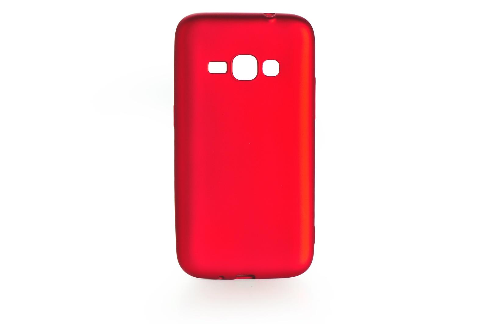 Чехол для сотового телефона Gurdini Чехол накладка силикон Soft Touch для Samsung Galaxy J1 2016 (J-120), 904283, красный